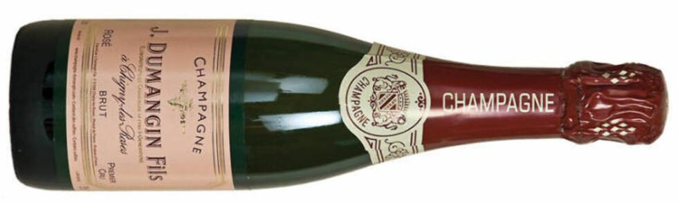 <strong>ROSÉ:</strong> Dumangin 1er Cru Rosé Brut er perfekt til aperitif og daten på nyttårsaften.