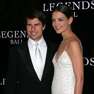 LYKKELIGE TIDER: Tom Cruise og Katie Holmes var gift i seks år. Sammen fikk de datteren Suri. Foto: NTB / Scanpix