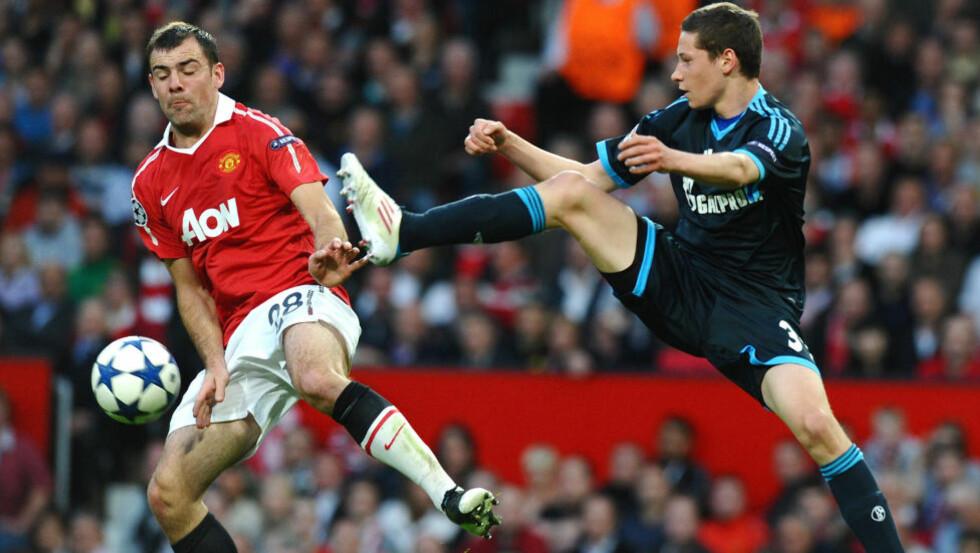 <strong>FARVEL:</strong> Darron Gibson slo aldri gjennom på Manchester Uniteds A-lag. Foto: AFP/PAUL ELLIS
