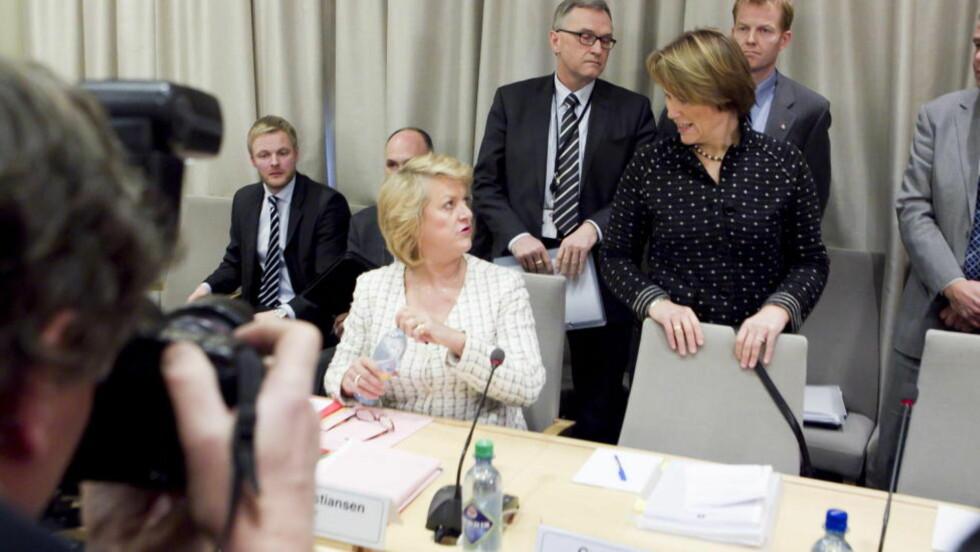 TABBE I HØRING: PST-sjef Janne Kristiansen forsnakket seg i gårsdagens høring på Stortinget. Foto: Heiko Junge / Scanpix