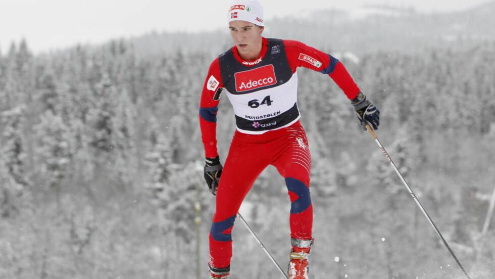 <strong>BESTE NORDMANN:</strong> Didrik Tønseth debuterte i verdenscupen i dag, og ble beste nordmann på en svak norsk dag. Her fra Beitostølen høsten 2010. Foto: Håkon Mosvold Larsen, Scanpix