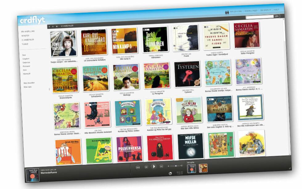 NY APP: Ordflyt er Cappelen Damms streaming- og nedlastningstjeneste for lydbøker. Denne uka lanserte de en ny app, som gjør det enklere å lytte til lydbøker på mobil og iPod.