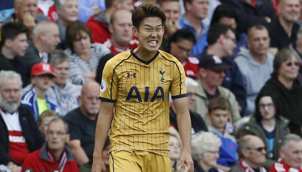 FÅR GJENNOMGÅ: Son Heung-min har herjet i Premier League denne sesongen, men likevel får han gjennomgå av landslagssjefen. Foto: NTB Scanpix