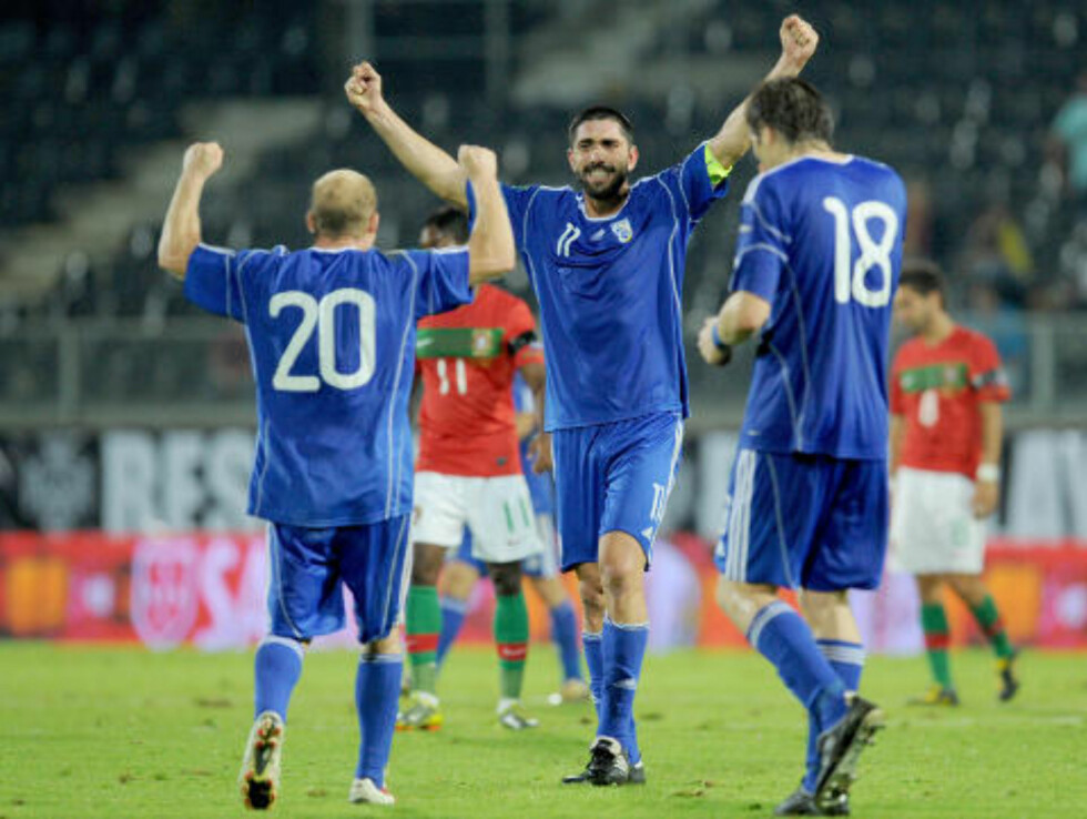 4-4: Kypros skal ikke undervurderes. For et år siden klarte de 4-4 borte mot Portugal. Foto: AP Photo / Paulo Duarte