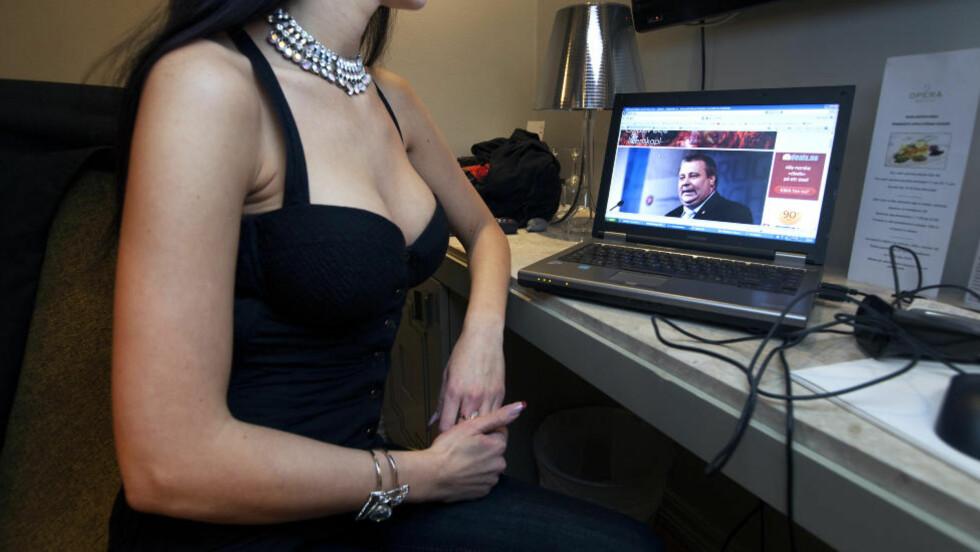 BLE FERSKET:  Bård Hoksrud har forklart til politiet at han fikk massasje over hele kroppen, og at han berørte prostituerte Nicole (bildet) i Riga. Foto. HENNING LILLEGÅRD / DAGBLADET