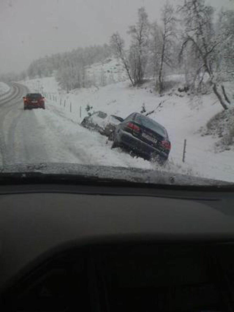 GLATT: I Sogndalsdalen har mange problemer på det glatte føret. Foto: Leserbilde