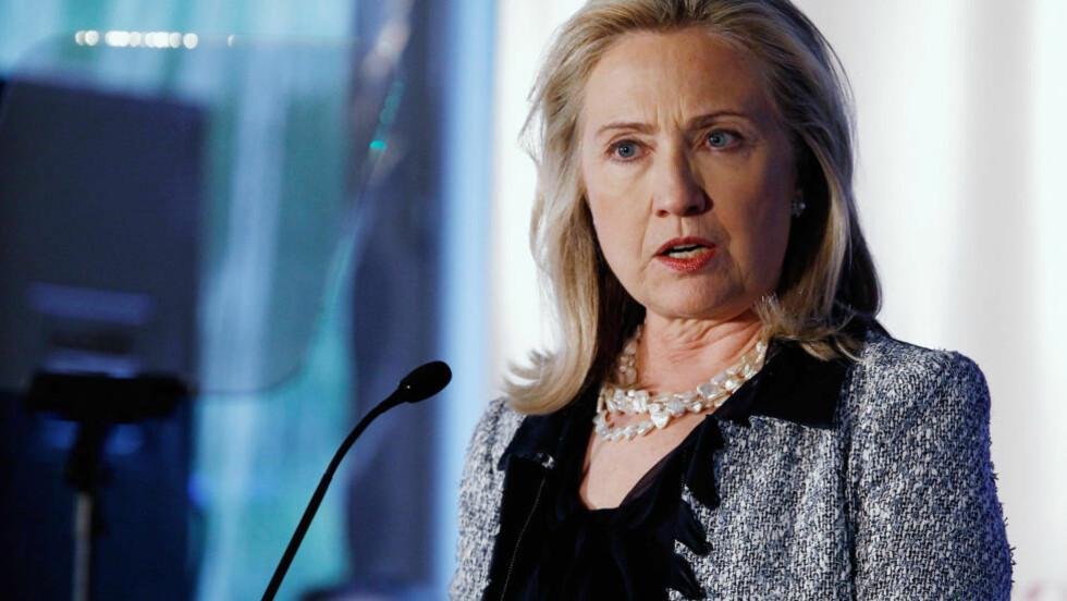 VIL STRAFFE IRAN: USAs utenriksminister Hillary Clinton ønsker at det internasjonale samfunnet skal være med å isolere Iran, og er klar på at Iran må ta ansvar for det påståtte attentatet mot Saudi-Arabias ambassadør. Foto: Chip Somodevilla/Getty Images/AFP/Scanpix