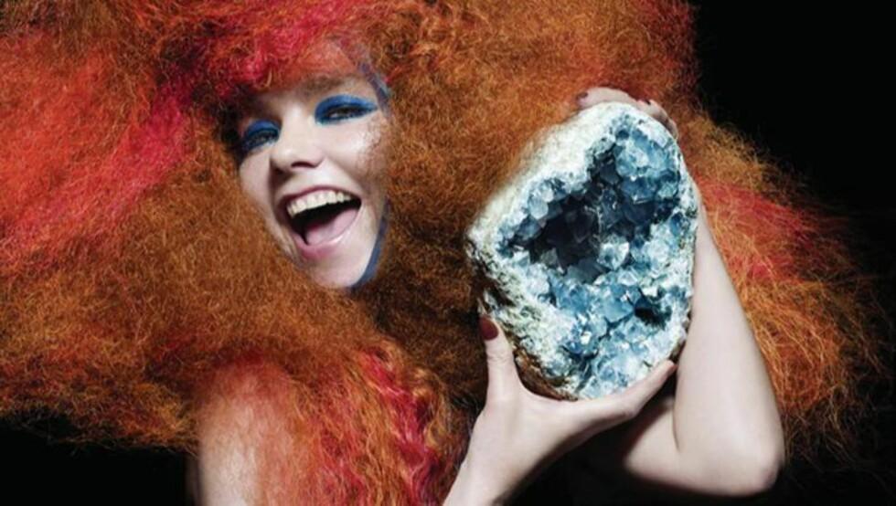 ROMANSTOFF: Den islandske superstjerna Björk er hovedperson i Mette Karlsviks brageprisnominerte roman. Foto: SCANPIX