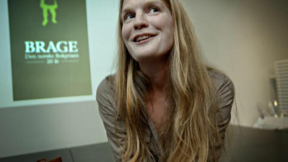 SPENT:  Ingvild H. Rishøi har veldig lyst til å vinne Brageprisen, og sier hun kommer til å være nervøs helt frem til utdelingen 24. november. Foto: Lars Eivind Bones