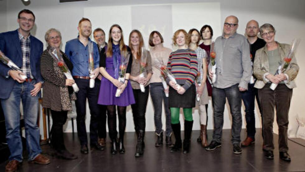 DE NOMINERTE:  Dette er de nominerte forfatterne til Brageprisen. Årets prisutdeling skjer den 24.november. Foto: Lars Eivind Bones