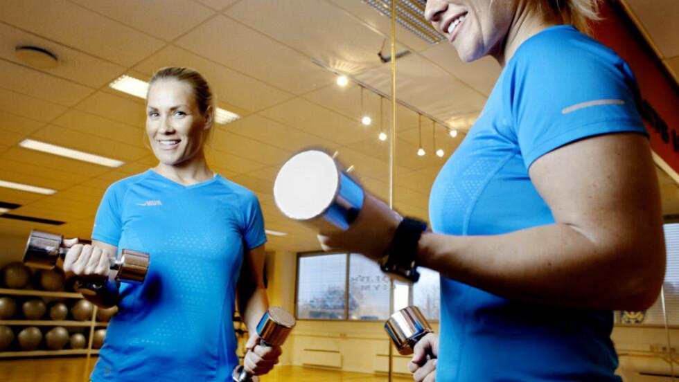 EFFEKTIV TRENING: Helene Rask viser deg effektiv styrketrening for økter på 20 minutter.  Foto: ADRIAN ØHRN JOHANSEN