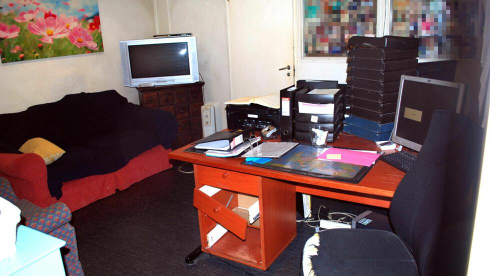 TELESEX: Her er kontoret til Koseprat.no. Foto: Privat