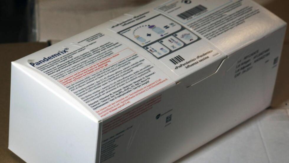 VAKSINE: Pandemix, som ble brukt som vaksine mot den såkalte svineinfluensaen, viser seg nå å gi flere bivirkninger enn Statens Legemiddelverk forutså. Foto: Hans Arne Vedlog / Dagbladet