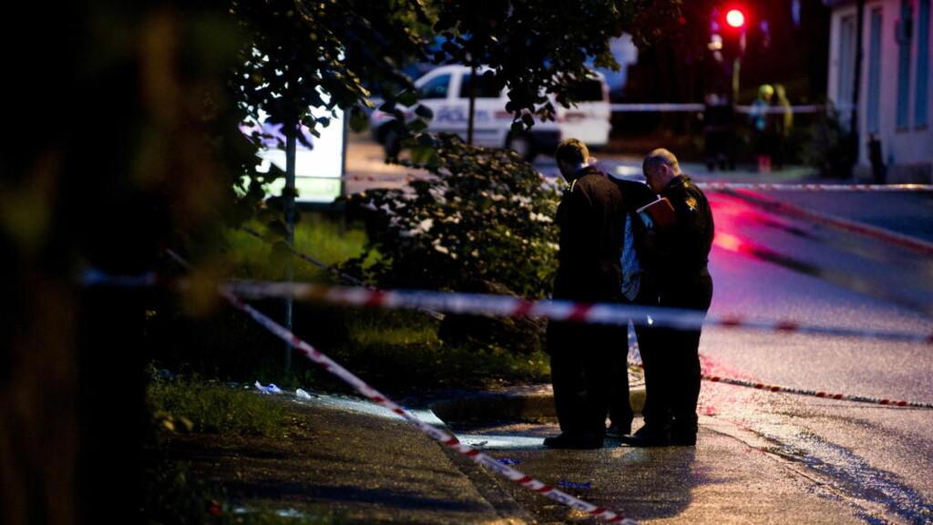ÅSTEDET: Her ved taxiholdeplassen på Bislett i Oslo skjedde drapet natt til lørdag. Foto: Øistein Monsen Norum