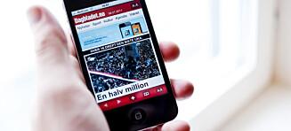 Dagbladets mobilutgave er Norges 20. største nettsted