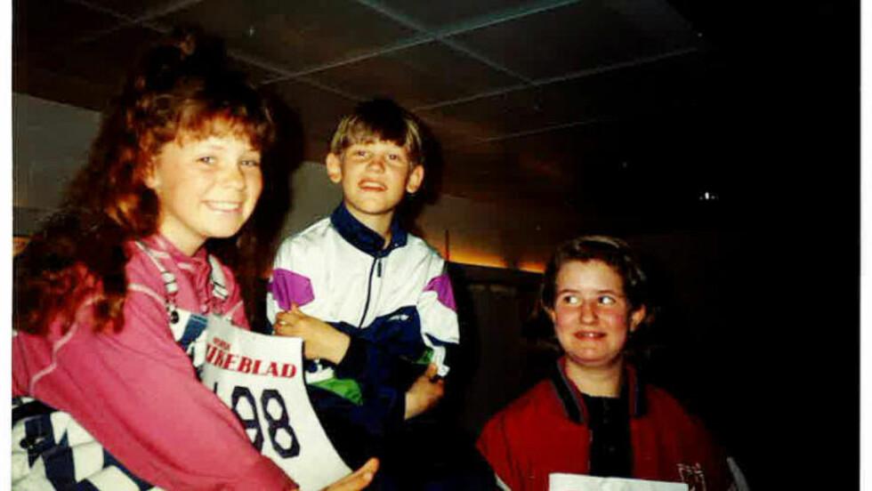 SLIK STARTET DET: Her er Lene Alexandra Øien (til venstre) 9,5 år og på audition til musikalen Annie. Da visste hun én ting - hun ville bli kjendis og opptre. Foto: Privat