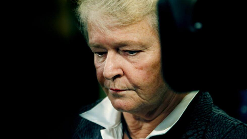 TALTE TIL UNGDOMMENE: Gro Harlem Brundtland er rystet etter skytingen på AUFs sommerleir på Utøya. Foto: Jacques Hvistendahl/Dagbladet