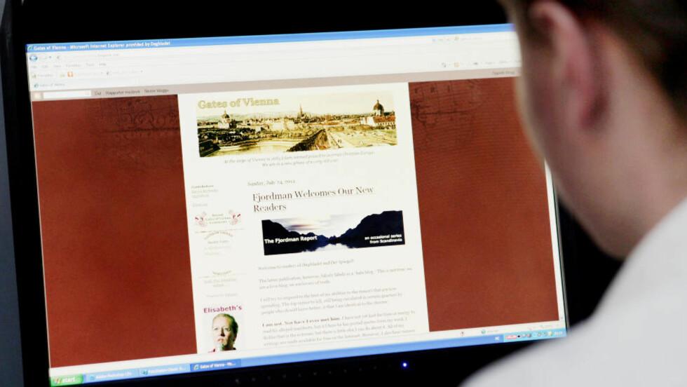 MISLIKER Å BLI BRUKT AV BREIVIK: Fjordman kommenterte i går Anders Behring Breiviks bruk av hans materiale.  Foto: Elisabeth Sperre Alnes/Dagbladet