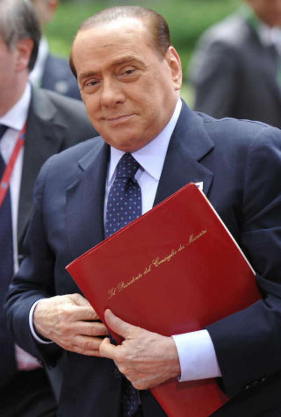 REGJERINGSPARTNER:  Silvio Berlusconi har flere ganger lent seg på Liga Nord for å beholde regjeringsmakten. Foto: ERIC FEFERBERG / AFP / SCANPIX