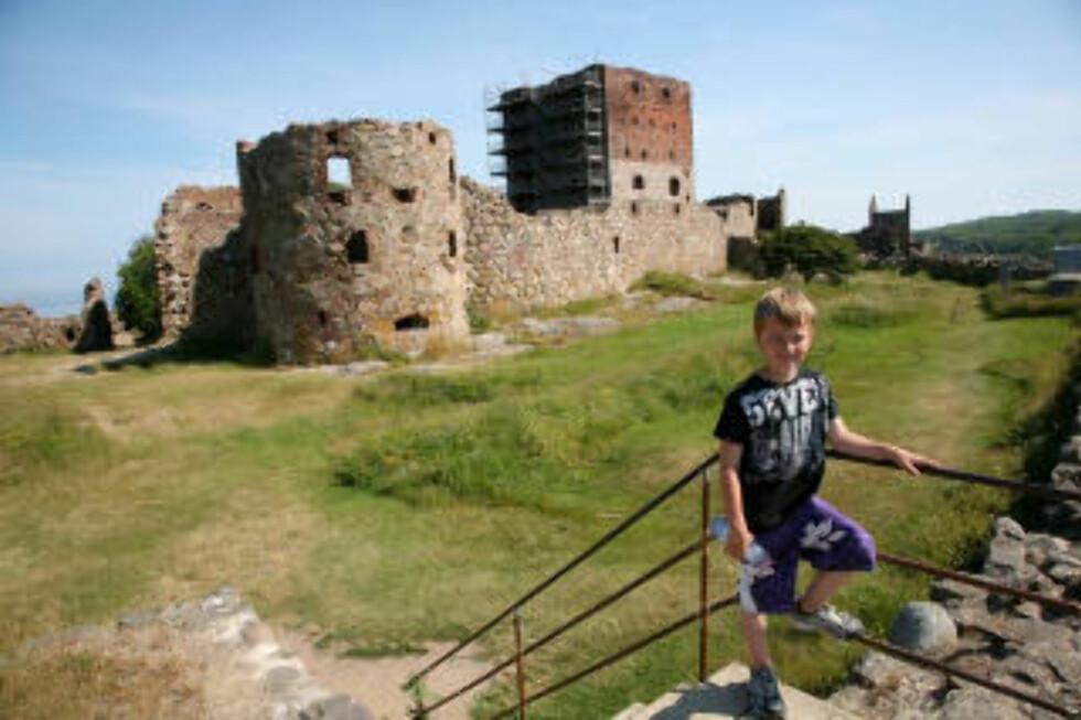 EKTE RUINER:  På ferieøya Bornholm finner du ruiner fra tempelridderborger. Alle foto: ODD ROAR LANGE