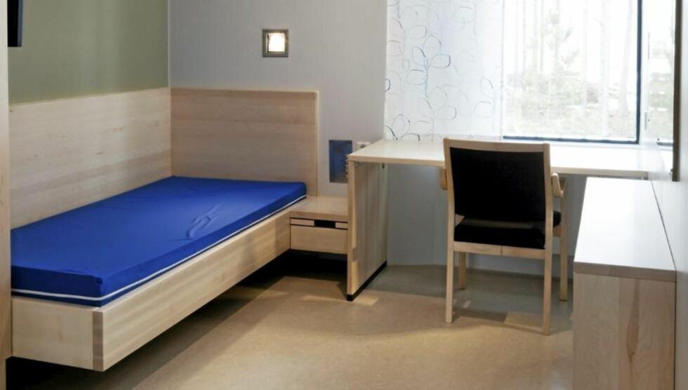 CELLE TEGNET AV INTERIØRARKITEKT: Boenhetene i Halden fengsel er utarbeidet av Beate Ellingsen AS. Foto: Trond A. Isaksen og Beate Ellingsen AS