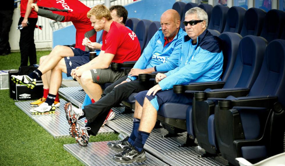 TO NYE ÅR:  Egil Drillo Olsen forlenget avtalen med Norges Fotballforbund. Han fortsetter dermed som landslagssjef i to nye år. . Foto: Øistein Norum Monsen / DAGBLADET