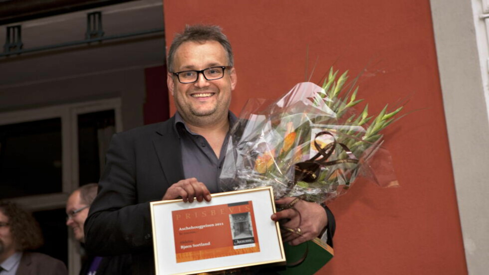 PRISVINNER: Bjørn Sortland vant årets Aschehougpris i høst. Det er ikke hverdagskost for barnebokforfattere. Foto: Anders Grønneberg