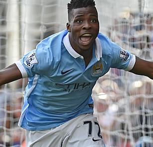 DEBUT: Spissen feirer sitt første mål i Premier League mot Crystal Palace. Foto: Reuters / Toby Melville Livepic