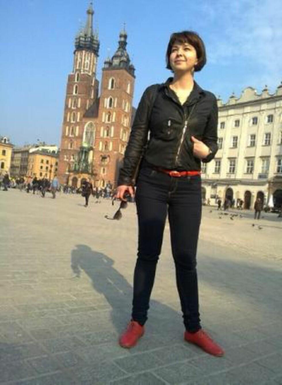 VENTER I POLEN:  Maria Amelie har ventet på vedtaket fra sin skrivetilværelse i Krakow. Foto: Privat.