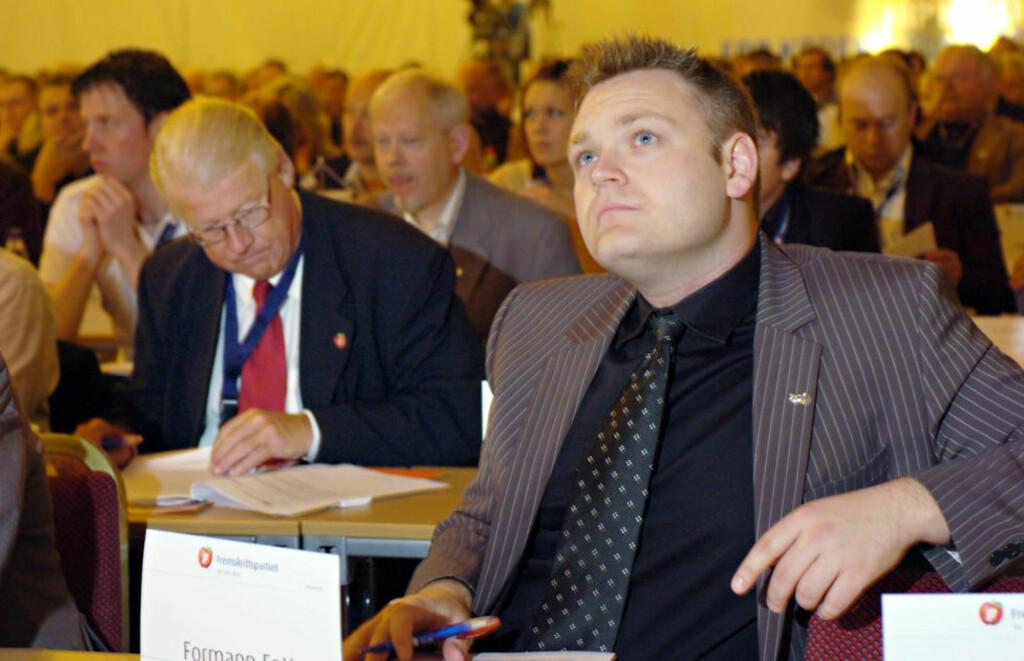LØSLATT: Tidligere Frp-topp Trond Birkedal, her fra partiets landsmøte i 2007, er løslatt fra varetektsfengsel. Foto: GEIR OTTO JOHANSEN/SCANPIX