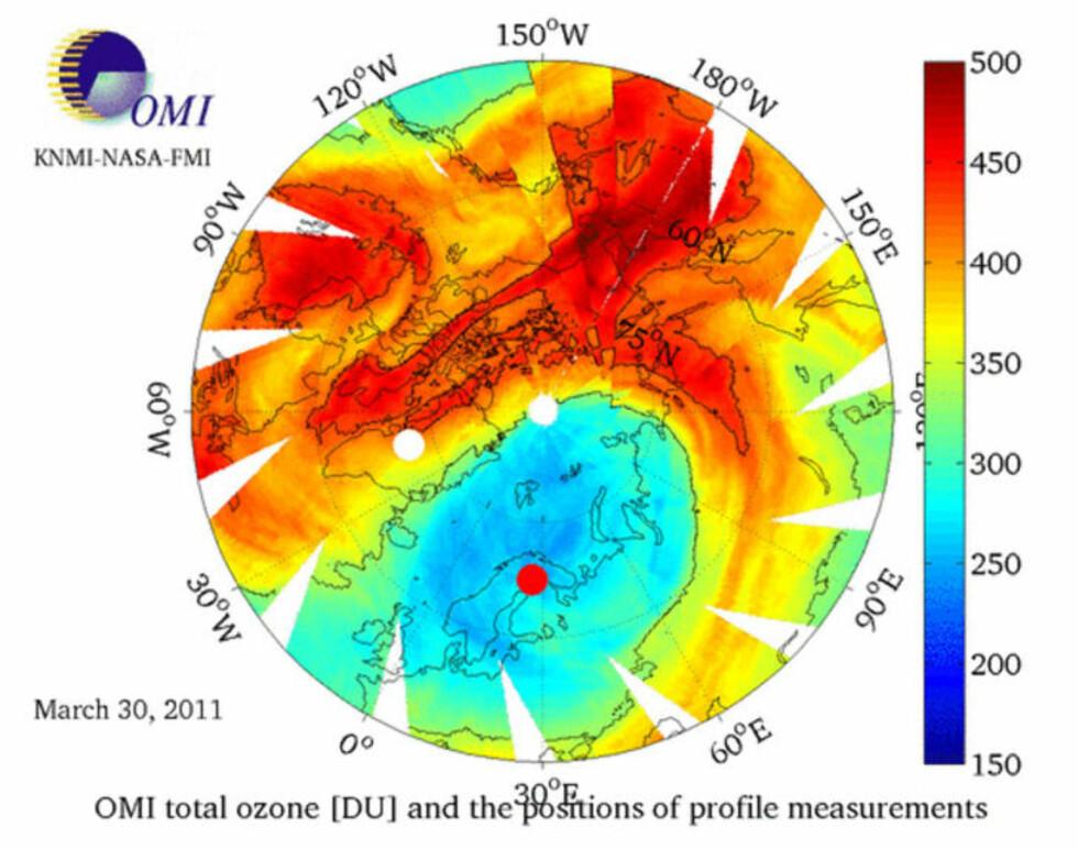 Ozonlaget over Arktis er rekordtynt