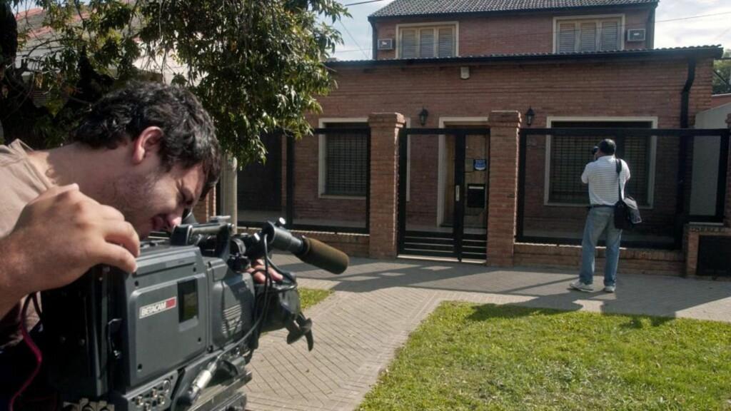 HER ER HUSET: Episoden skjedde lørdag kveld i byen Rosario i nordre del av Argentina hvor den 28-år gamle broren Mathias Messi bor. Foto: AP Photo / Juan Jose Garcia / Scanpix