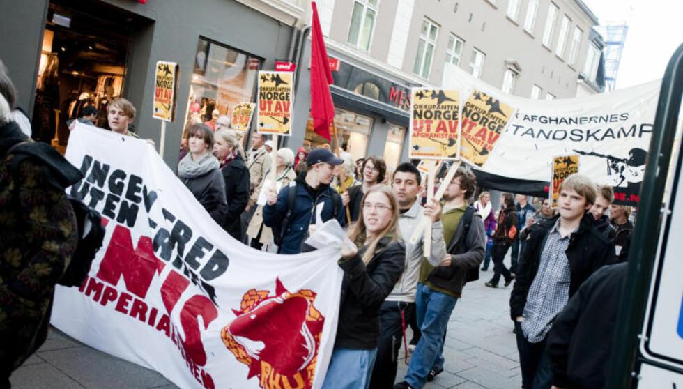 MISTER PENGER: Revolusjonær kommunistisk ungdom fikk i fjor utbetalt 146 000 kroner i støtte for å drive politikk, nå mister de pengene. Foto: Thomas Rasmus Skaug/Dagbladet