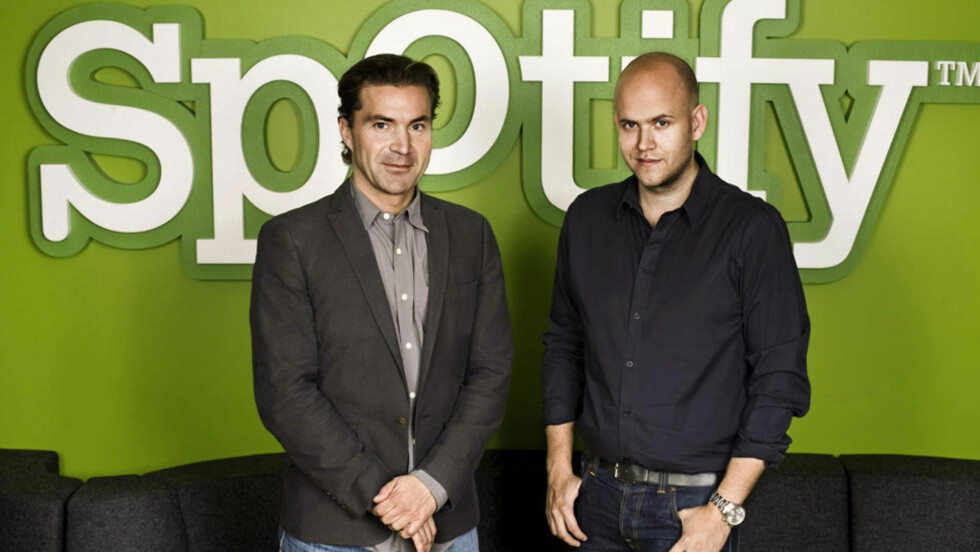 SKRUR IGJEN: Nå skrur Spotify-skaperne Martin Lorentzon og Daniel Ek igjen krana for gratislytting. Foto: AFP PHOTO / SPOTIFY/ SCANPIX
