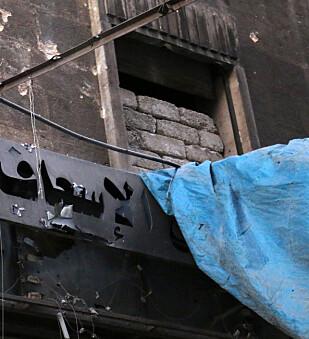 UTE AV DRIFT: begge sykehusene som i morges ble angrepet er nå ute av drift, ifølge Leger Uten Grenser. Foto: Abdalrhman Ismail / Reuters / Scanpix