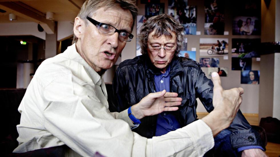 ENGASJERT:  Lege Mads Gilbert (nærmest) og filmskaper Knut Erik Jensen har laget filmen «Det akutte menneske», som har premiere i morgen. Gilbert er rasende over at ungdom spiller voldelige dataspill. Foto: Lars Eivind Bones