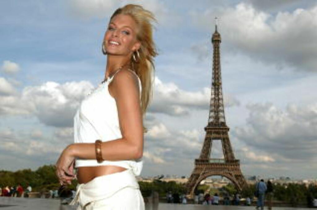 BYROMANTIKK: Det kan være like romantisk i Paris som på Bora Bora, mener Kathrine Sørland   Foto: ODD-STEINAR TØLLEFSEN/TV3