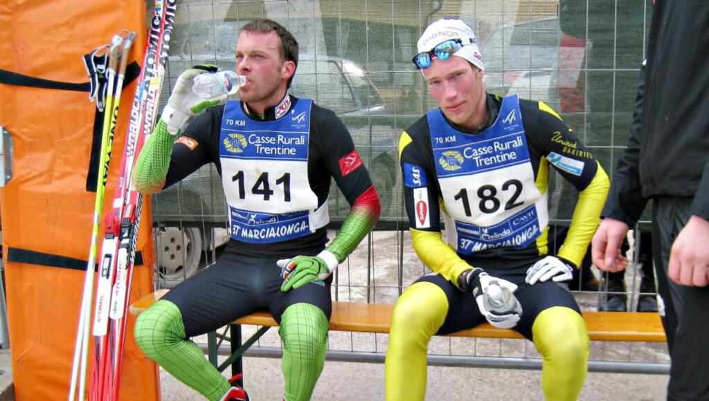 PÅ SAMME LAG: Simen Østensen (høyre) vil gå sammen med Anders Aukland og resten av Team Xtra Personell kommende sesong.Foto:  ARNT E. FOLVIK / Dagbladet