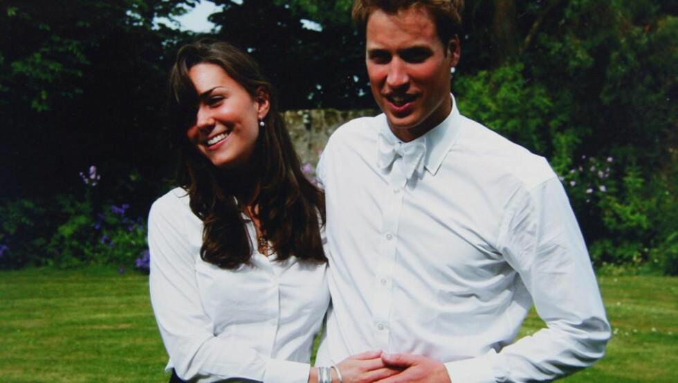 MØTTES PÅ UNIVERSITETET Kate Middleton og Prins William siste dagen på St. Andrews University, der de ble kjærester. I dag gifter de seg. Foto: Scanpix/privat