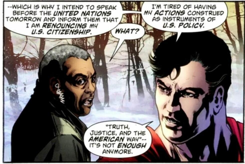 Supermann vil ikke lenger være amerikansk