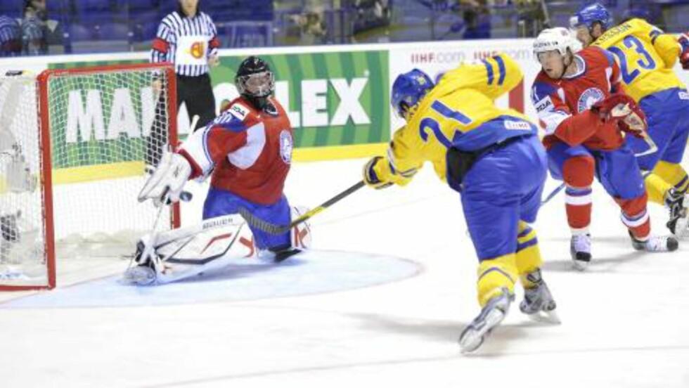 STARTET TIDLIG: Loui Eriksson ga Sverige ledelsen 1-0 i gruppe C-kampen. Foto: FREDRIK SANDBERG / Scanpix