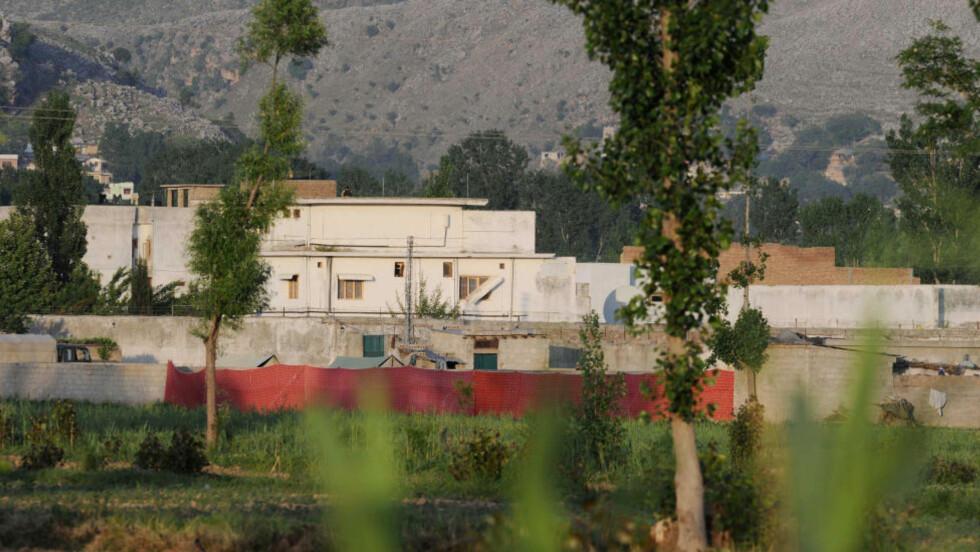 KONA IKKE DREPT: Den amerikanske operasjonen mot dette skjulestedet i Abbottabad, Pakistan, kostet Al-Qaidas leder Osama bin Laden livet. Hans kone skal derimot ha overlevd.AFP PHOTO/AAMIR QURESHI