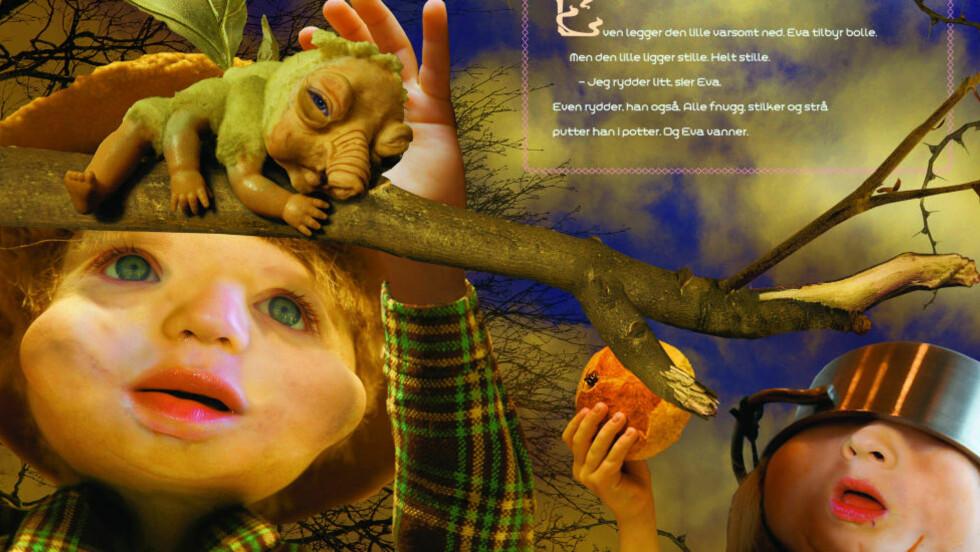 BLANDET OPPLEVELSE: Endre Lund Eriksens nye bildebok er en veldreid historie akkopagnert av Lars Aurtandes merkelige og frodige illustrasjoner. Bilde: FRA BOKA