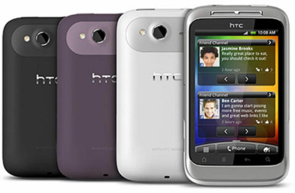 BILLIG: Wildfire S er HTCs budsjettmodell.  Foto: Produsenten