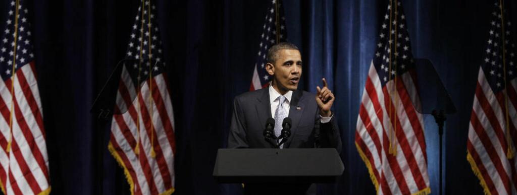 TALER TIL den muslimske verden. USAs president Barack Obama skal prate om drapet på Osama bin Laden og utviklingen i Midtøsten og Nord-Afrika Foto: AP Photo/Eric Gay/SCANPIX