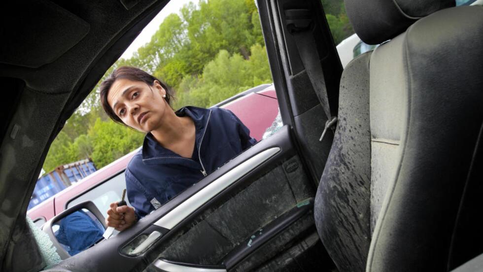 EKSPLODERTE:  Bilen til Nasim Karim, en BMW-X5, startet av seg selv og tok fyr. FOTO: TORBJØRN BERG / DAGBLADET.