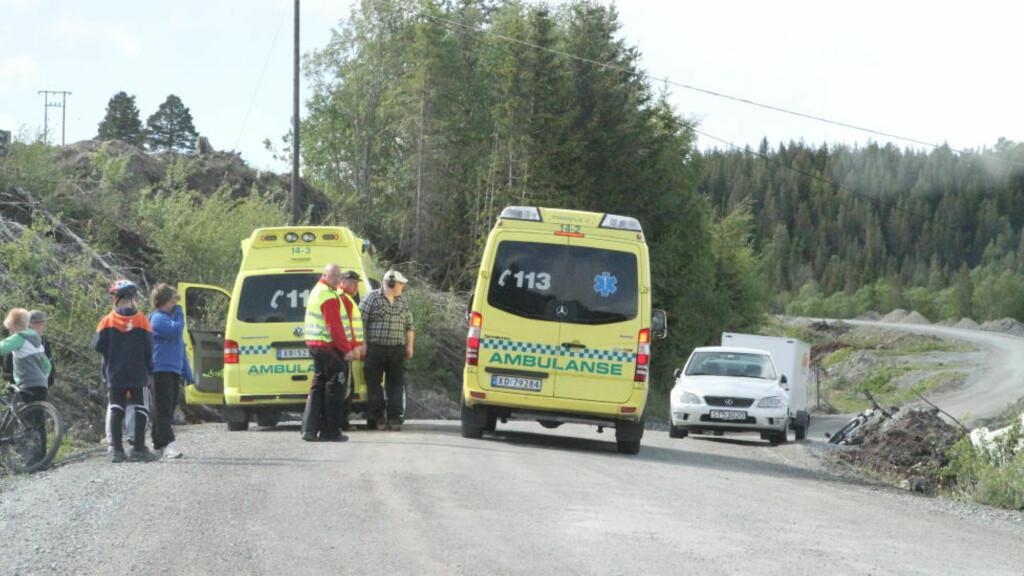 SKADD: 13-åringen skal ha blitt skadet da han landet i forbindelse med et hopp på en motocrossykkel. Foto: TOR AAGE HANSEN/DAGBLADET
