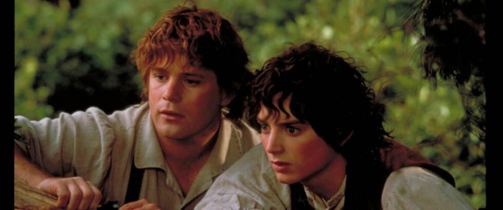 SATTE HOBBITENE PÅ KARTET: Sean Austin og Elijah Wood spilte henholdsvis Samvis Gamgod og Frodo Lommelun i den suksessfulle filmatiseringen av «Ringenes Herre». Nå skal det også lages film av forløperen, boka «Hobbiten». Foto: Filmweb