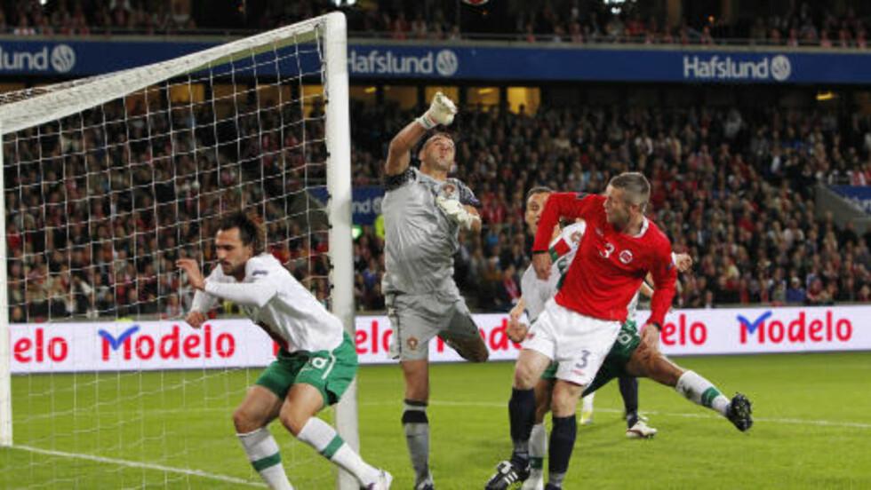 GLEDER SEG STORT: Kjetil Wæhler elsker å møte store fotballstjerner, og gleder seg derfor stort til gjensynet med Portugal på lørdag.  Foto:  Håkon Mosvold Larsen / Scanpix