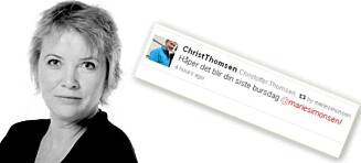 Frp-politiker ønsket Marie Simonsen død